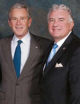 President George W. Bush and John D. Clark, Sr.