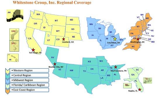 Whitestone Group Regional Map