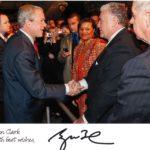 President George W. Bush with John Clark, Sr.