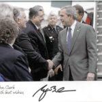 President Bush and John Clark Sr.