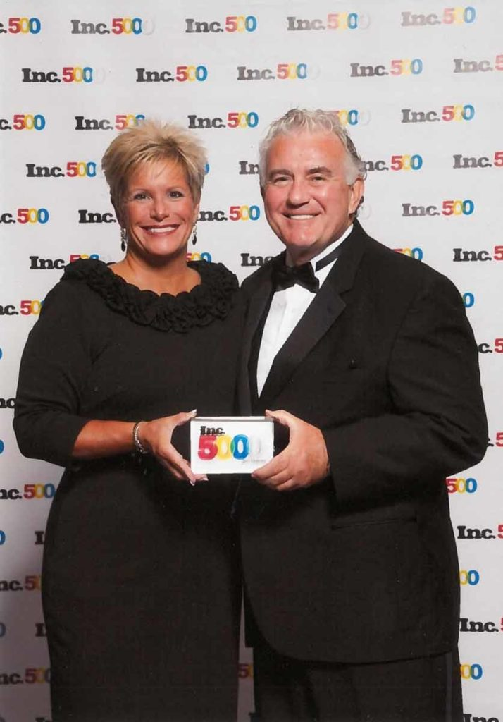 Pam Gentile and John Clark, COO and Founder, respectively, of The Whitestone Group, receive 7th consecutive Inc. 5000 Award, presented by Inc. Magazine.