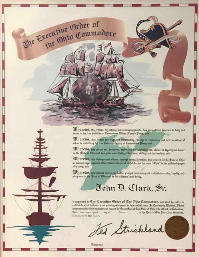 Executive Order of the Ohio Commodore